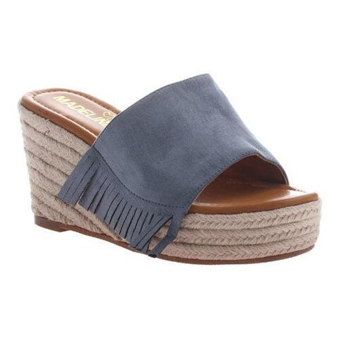 Women's Madeline Dashed Wedge Slide Blue Textile