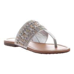 Women's Madeline Blonde Thong Sandal Quick Silver Synthetic