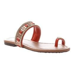 Women's Madeline Blush Toe Loop Sandal Red Synthetic