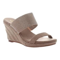 Women's Madeline Canty Wedge Slide Gold Textile/Synthetic