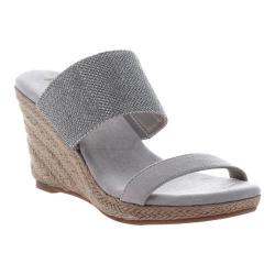 Women's Madeline Canty Wedge Slide Silver Textile/Synthetic
