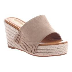 Women's Madeline Dashed Wedge Slide Taupe Textile