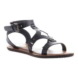Women's Madeline Delani Gladiator Sandal Black Synthetic