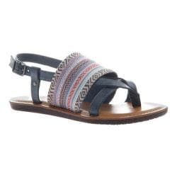 Women's Madeline Dicey Thong Sandal Blue Textile/Synthetic