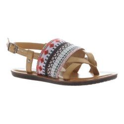 Women's Madeline Dicey Thong Sandal Camel Textile/Synthetic