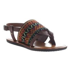 Women's Madeline Dicey Thong Sandal Whiskey Textile/Synthetic