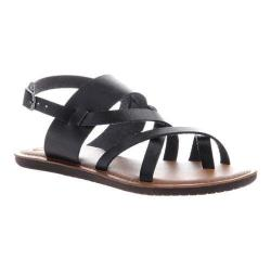 Women's Madeline Divania Gladiator Sandal Black Synthetic