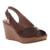 Women's Madeline Doting Wedge Slingback Sandal Brown Sugar Synthetic