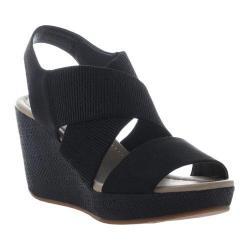 Women's Madeline Dusky Wedge Sandal Black Textile/Synthetic