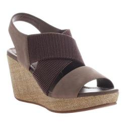 Women's Madeline Dusky Wedge Sandal New Taupe Textile/Synthetic