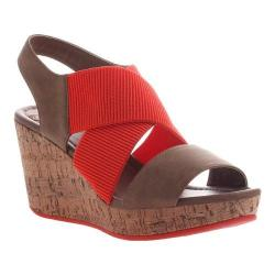 Women's Madeline Dusky Wedge Sandal Warm Red Textile/Synthetic