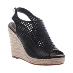 Women's Madeline Minimal Wedge Sandal Black Synthetic