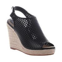 Women's Madeline Minimal Wedge Sandal Black Synthetic