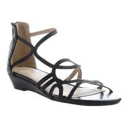 Women's Madeline Sizzle Strappy Sandal Black Synthetic