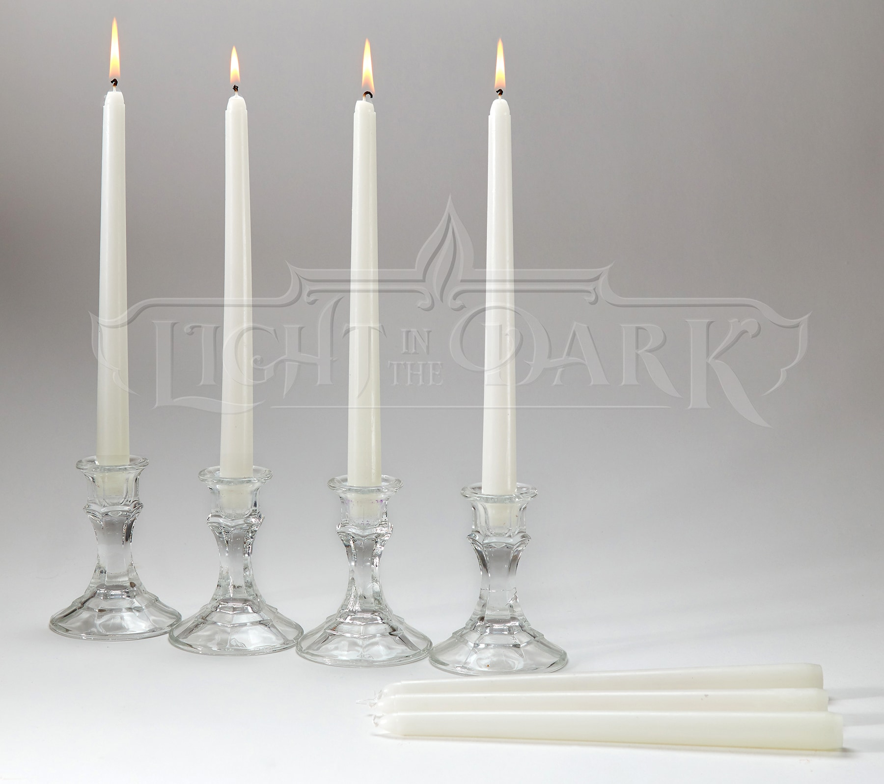 White Taper Candles with 7.5-hour Burn (Set of 14)