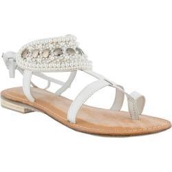 Women's Azura Esther Beaded Sandal White Leather