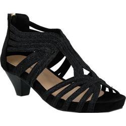 Women's Azura Esthetic Strappy Sandal Black Microsuede