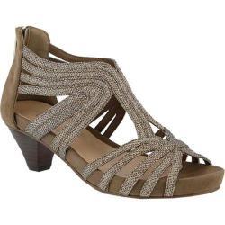 Women's Azura Esthetic Strappy Sandal Soft Gold Microsuede