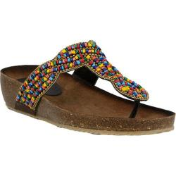 Women's Azura Etta Thong Sandal Rainbow Multi Leather