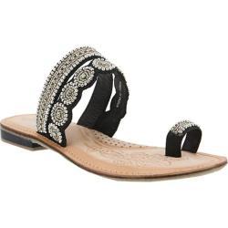 Women's Azura Finka Toe Loop Sandal Black Multi Leather