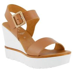 Women's Azura Leah Wedge Platform Sandal Camel Leather