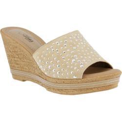 Women's Azura Listen Slide Wedge Sandal Beige Suede