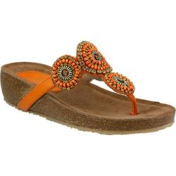 Women's Azura Lori Thong Sandal Orange Leather