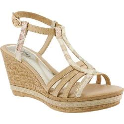 Women's Azura Midsummer Wedge Sandal Beige Leather