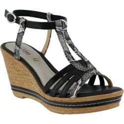 Women's Azura Midsummer Wedge Sandal Black Leather