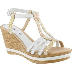 Women's Azura Midsummer Wedge Sandal White Leather