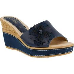 Women's Azura Montanara Slide Wedge Sandal Blue Leather