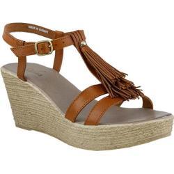 Women's Azura Romance Wedge Sandal Camel Leather