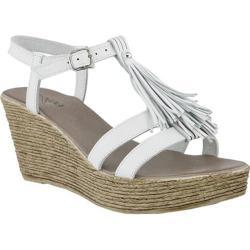 Women's Azura Romance Wedge Sandal White Leather