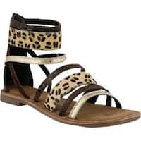Women's Azura Tunisia Strappy Sandal Brown Leather