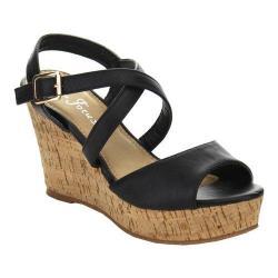 Women's L & C Prada-30 Wedge Sandal Black