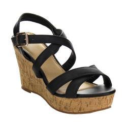 Women's L & C Prada-31 Wedge Sandal Black