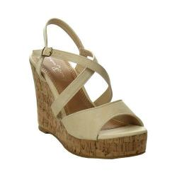 Women's L & C Super-02 Strappy Wedge Sandal Blush