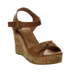 Women's L & C Super-04 Ankle Strap Sandal Cognac