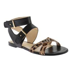 Women's Nine West Darcelle Sandal Black/Natural Multi Leather
