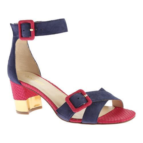 03e4a8f24a41 Shop Women s Nine West Trax Ankle Strap Sandal Navy Suede - Free Shipping  Today - Overstock.com - 11693729