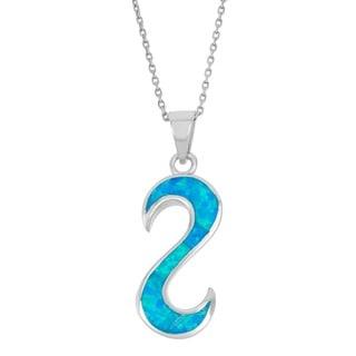 La Preciosa Sterling Silver Opal 'S' Pendant