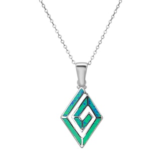 Link to La Preciosa Sterling Silver Opal Pendant Similar Items in Necklaces