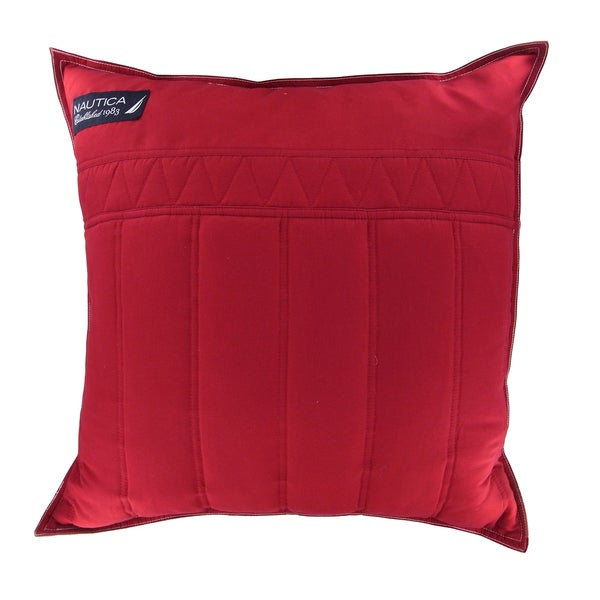Shop Nautica Mainsail 20 Inch Red Decorative Pillow Free