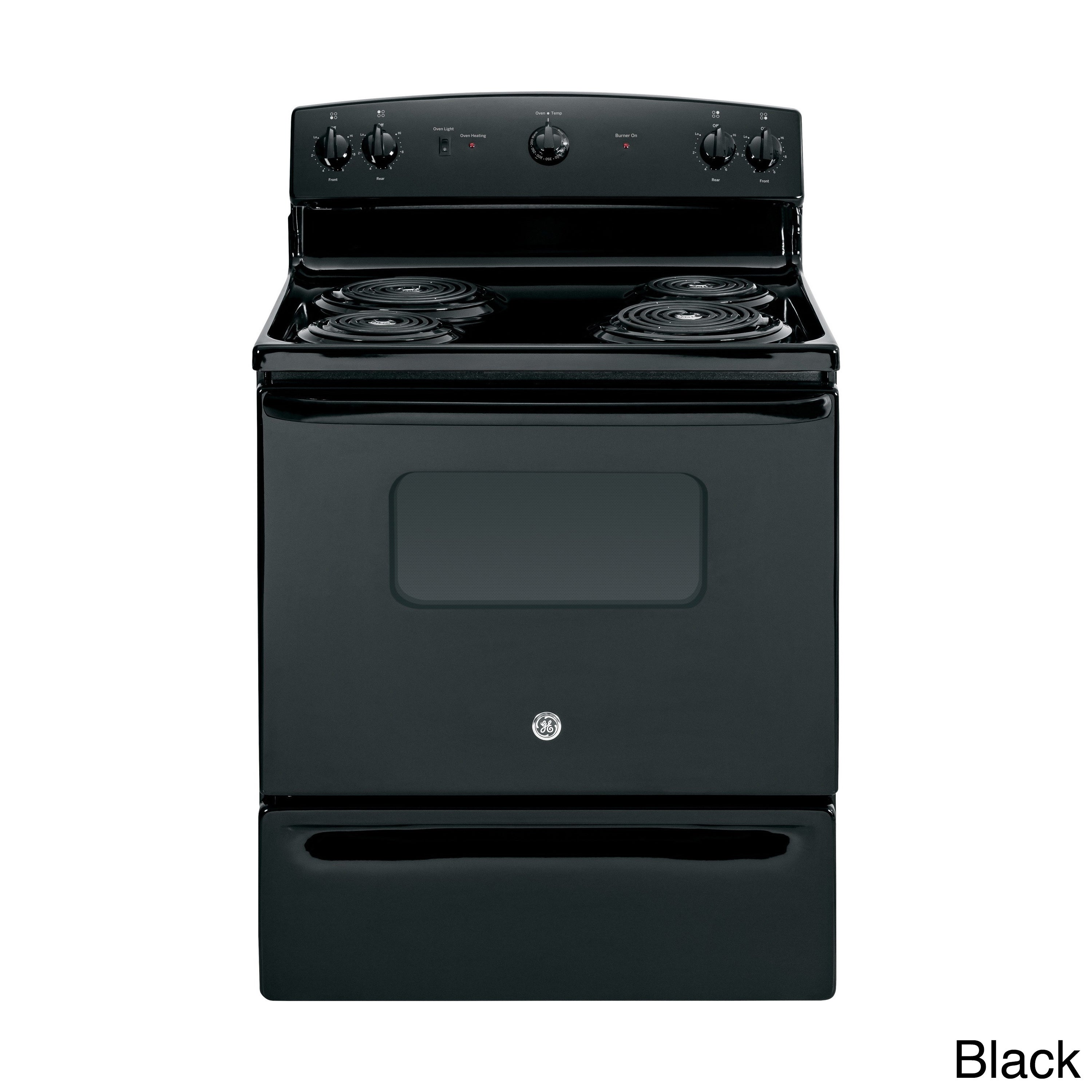 GE 30-inch Free-standing Electric Range (Black) (Stainles...
