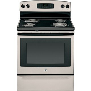 GE Black 30-inch Free-standing Electric Range