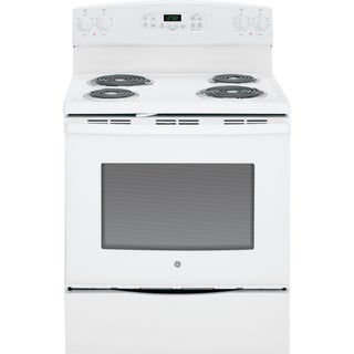 GE 30-inch Free-standing Electric Range (Option: White)