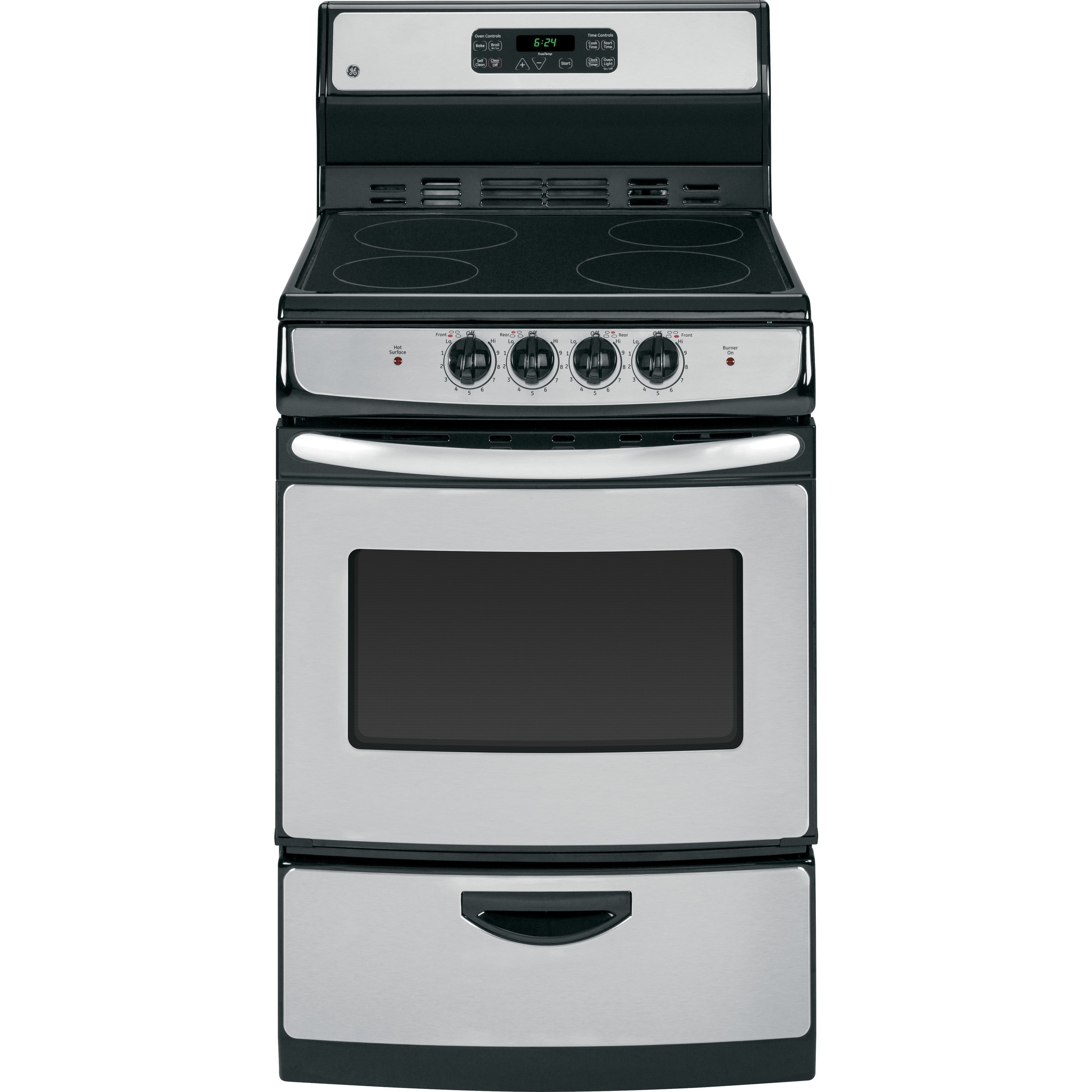 GE 24-inch Self Clean Free-standing Electric Range (Stain...