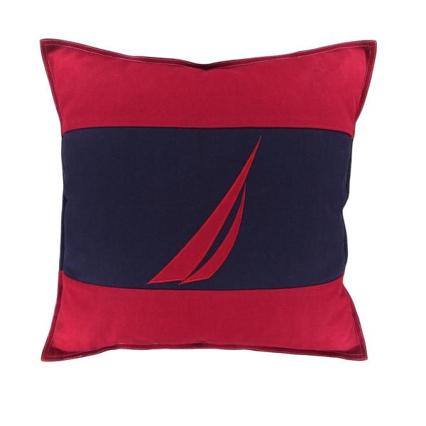 Nautica Mainsail Spinnaker Red Decorative Pillow Free