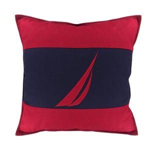 Nautica Mainsail Spinnaker Red Decorative Pillow