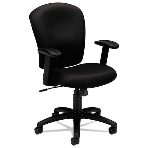 HON Mid Back Task Chair for Office Desk- Black Fabric (BSXVL220VA10)..